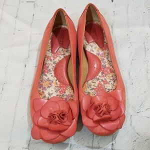 Born Leather Flats Salmon/Pink